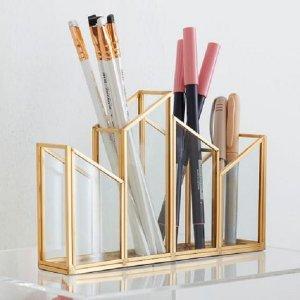 hộp bút sáng tạo: trang trí góc làm việc