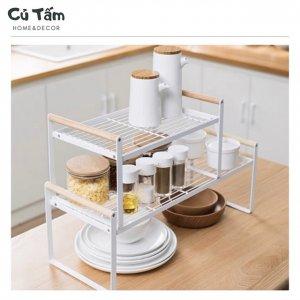 kệ chia tầng thông minh cho căn bếp hiện đại