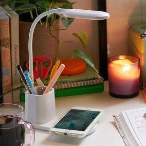 hộp bút tích hợp đèn: trang trí góc làm việc